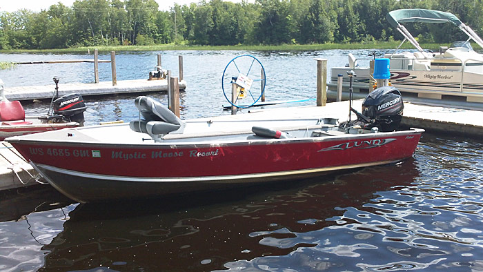 Hayward wisconsin boat rentals fishing boats pontoons for Lake fishing boats